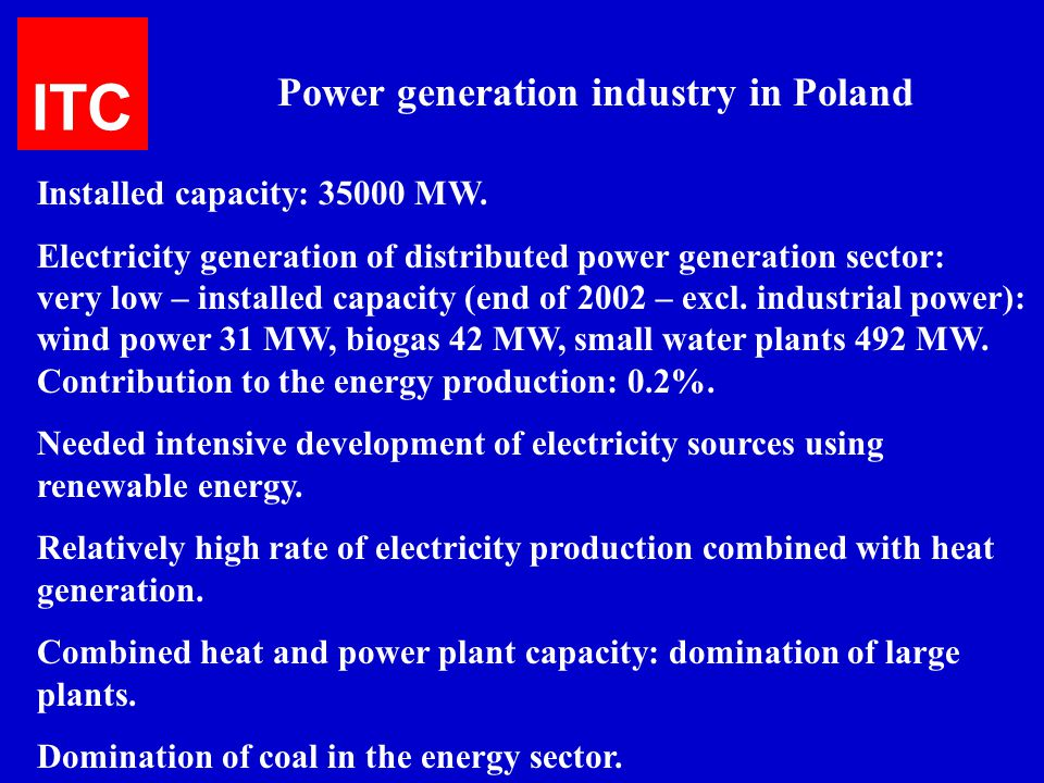 Power generation industry in Poland