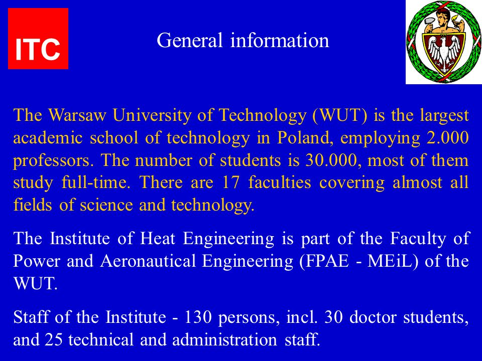 ITC General information