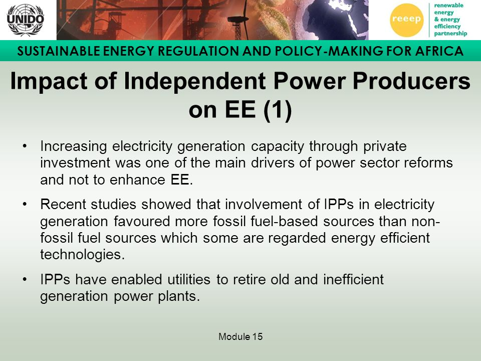 Impact of Independent Power Producers on EE (1)