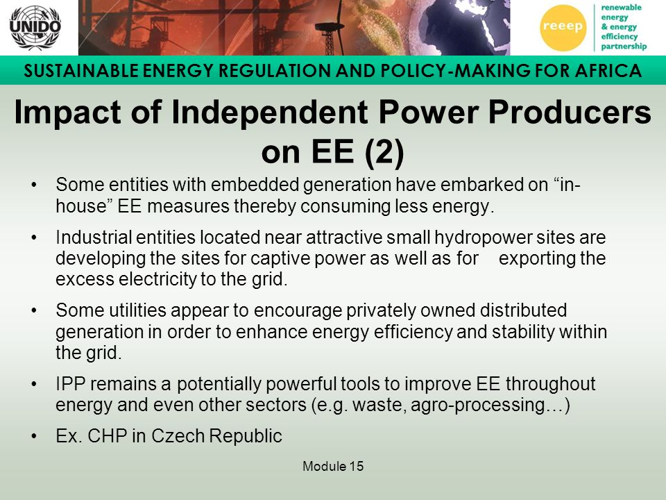 Impact of Independent Power Producers on EE (2)
