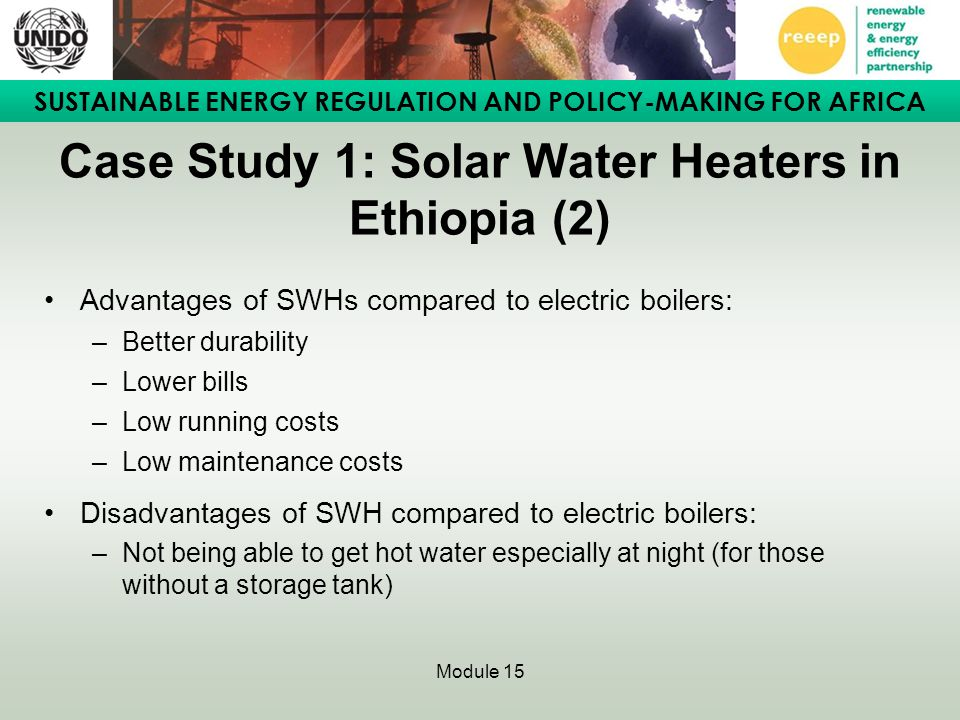 Case Study 1: Solar Water Heaters in Ethiopia (2)