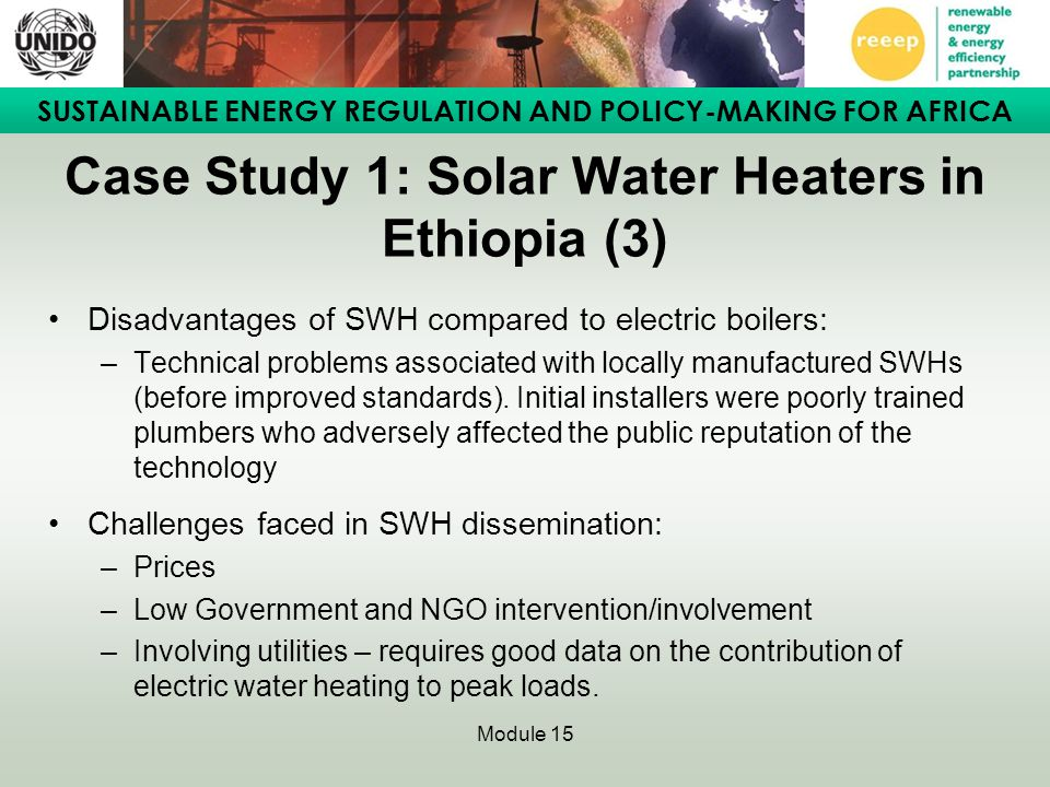 Case Study 1: Solar Water Heaters in Ethiopia (3)
