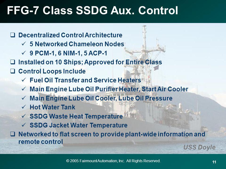 FFG-7 Class SSDG Aux. Control