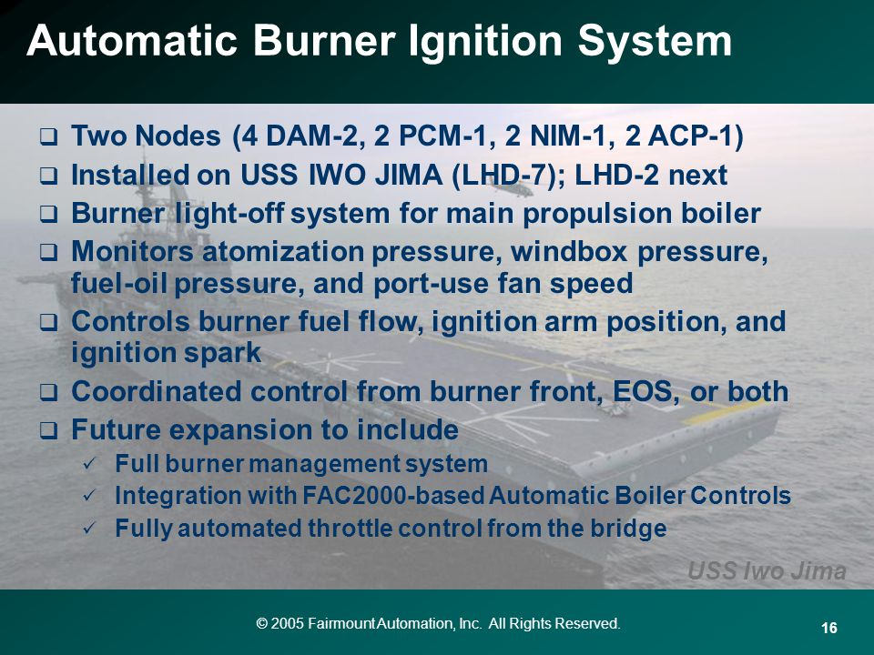 Automatic Burner Ignition System