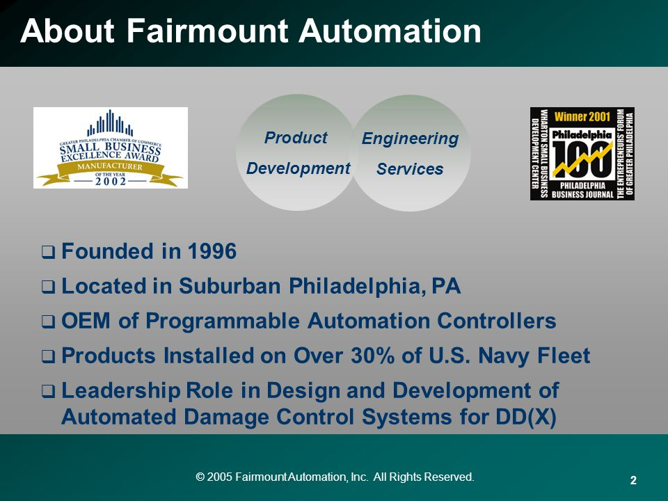 About Fairmount Automation