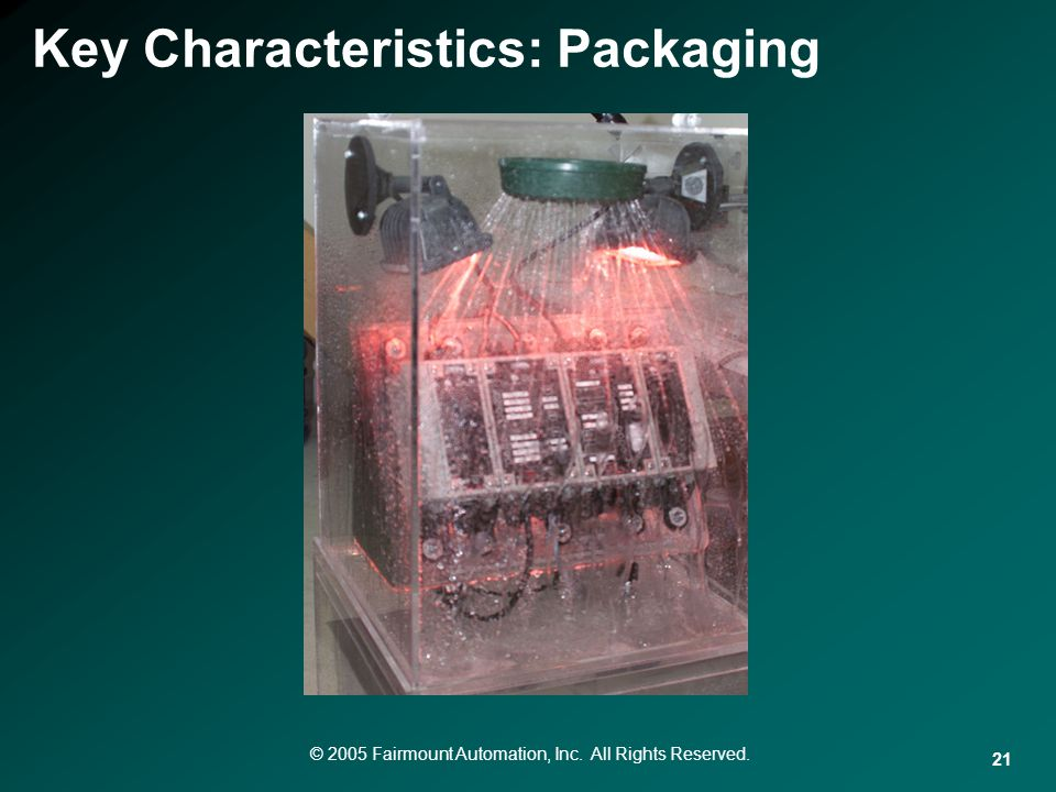 Key Characteristics: Packaging