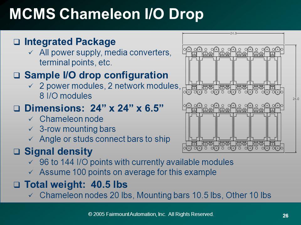 MCMS Chameleon I/O Drop