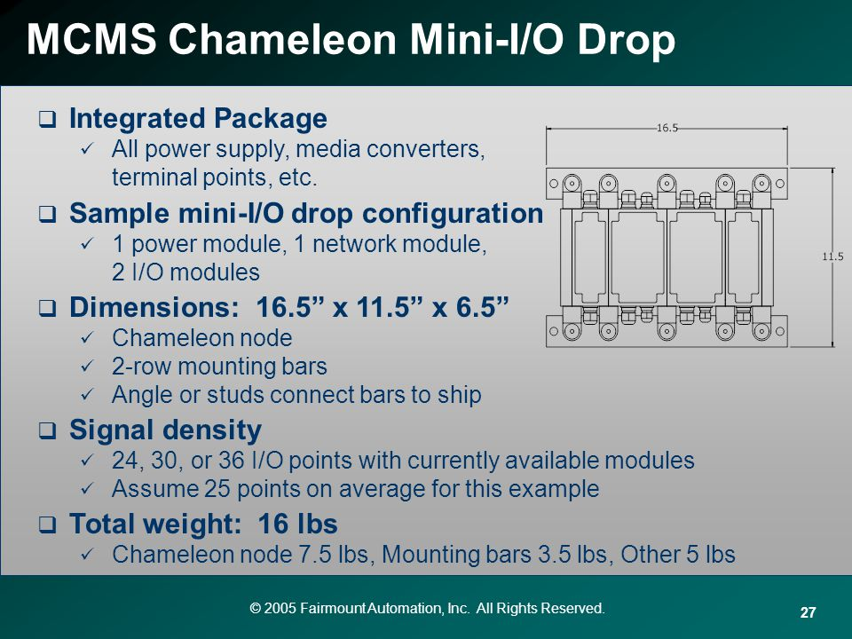 MCMS Chameleon Mini-I/O Drop