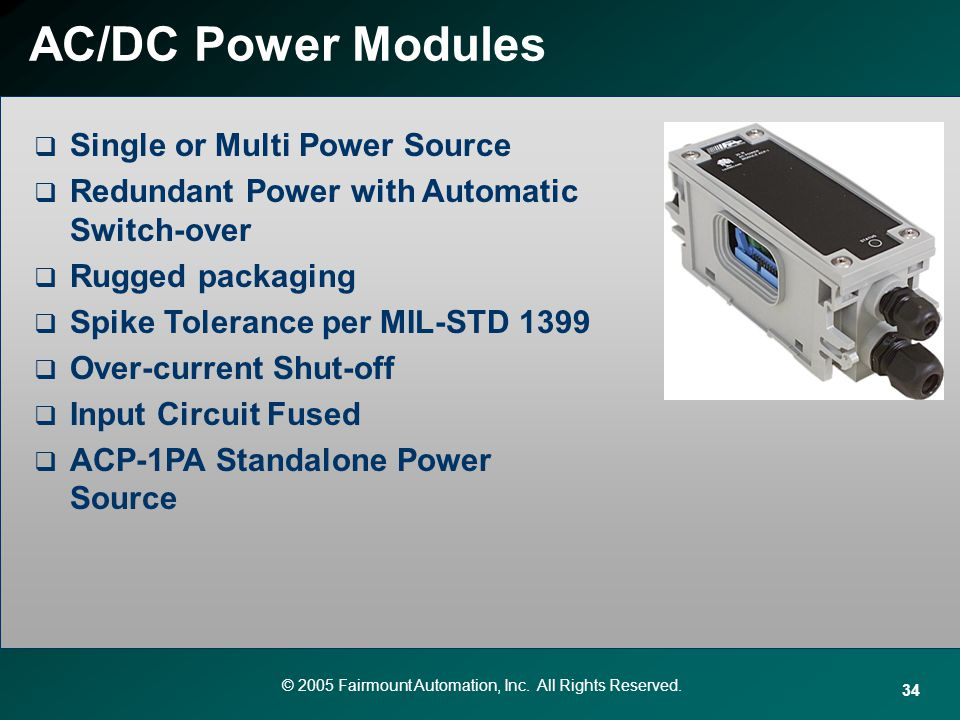 AC/DC Power Modules Single or Multi Power Source