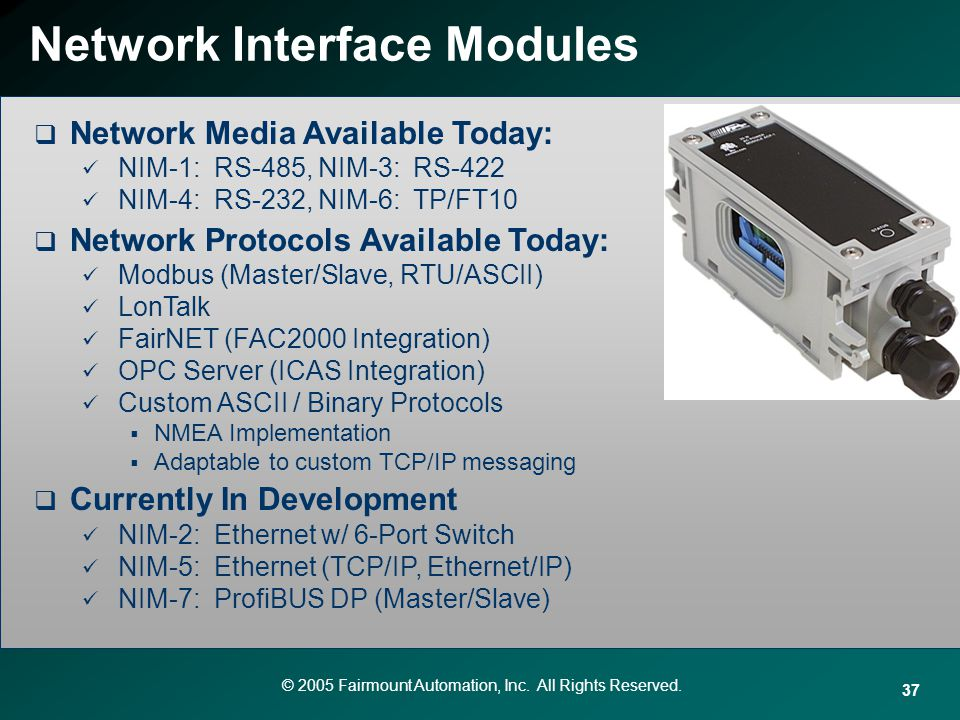Network Interface Modules