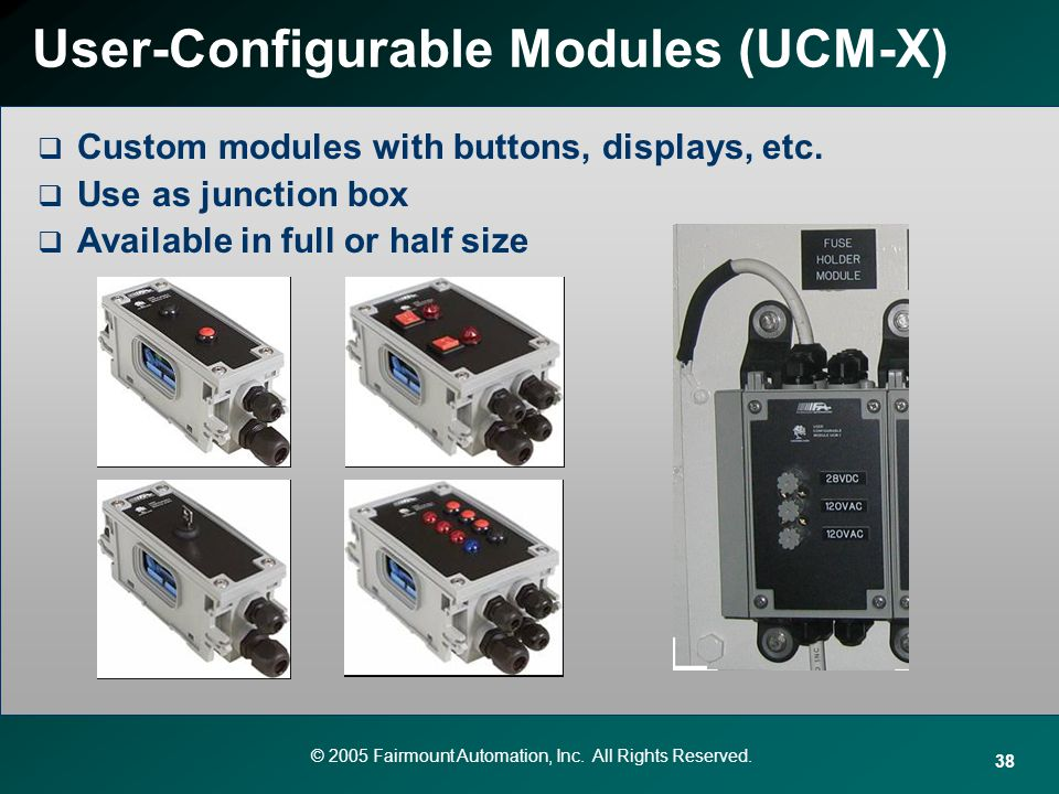 User-Configurable Modules (UCM-X)
