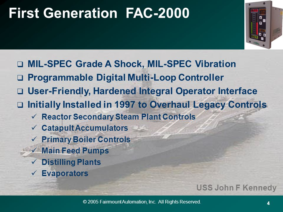 First Generation FAC-2000 MIL-SPEC Grade A Shock, MIL-SPEC Vibration