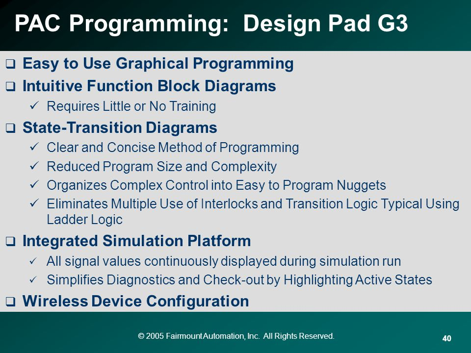 PAC Programming: Design Pad G3
