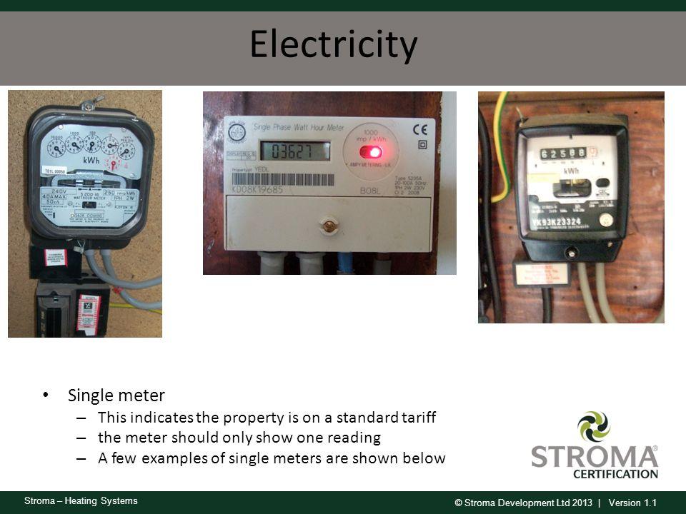 Electricity Single meter