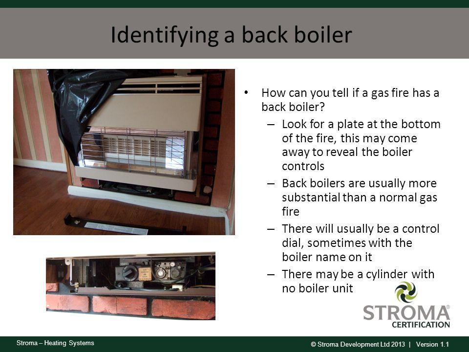 Identifying a back boiler