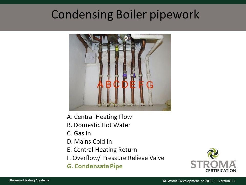 Condensing Boiler pipework
