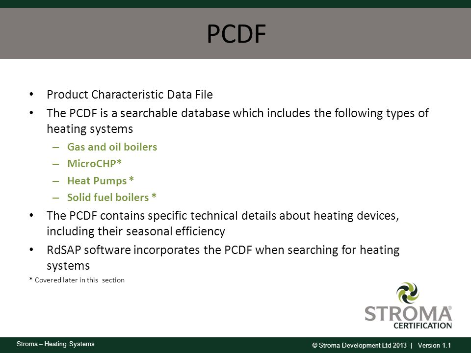 PCDF Product Characteristic Data File