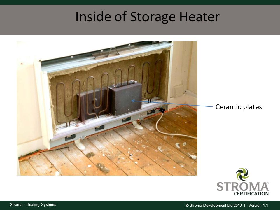 Inside of Storage Heater