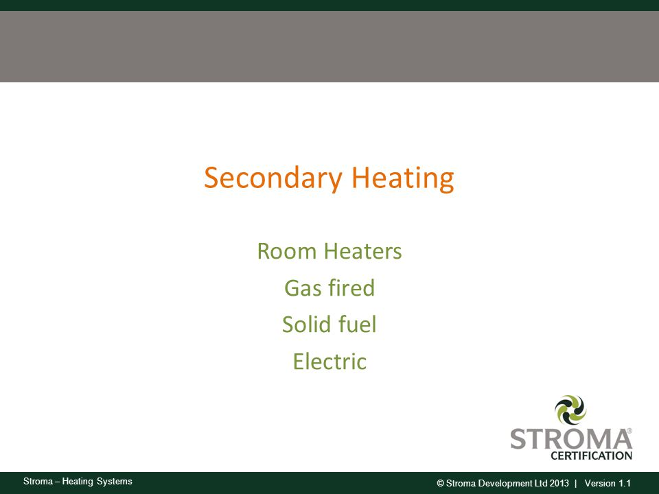 Room Heaters Gas fired Solid fuel Electric