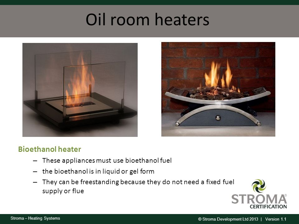 Oil room heaters Bioethanol heater