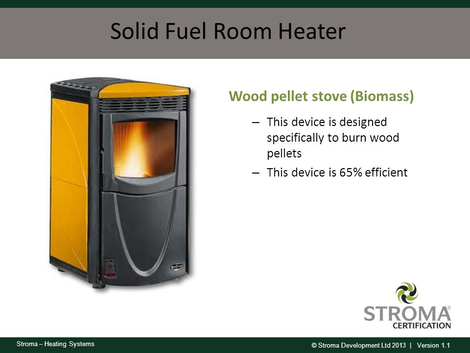 Solid Fuel Room Heater Wood pellet stove (Biomass)