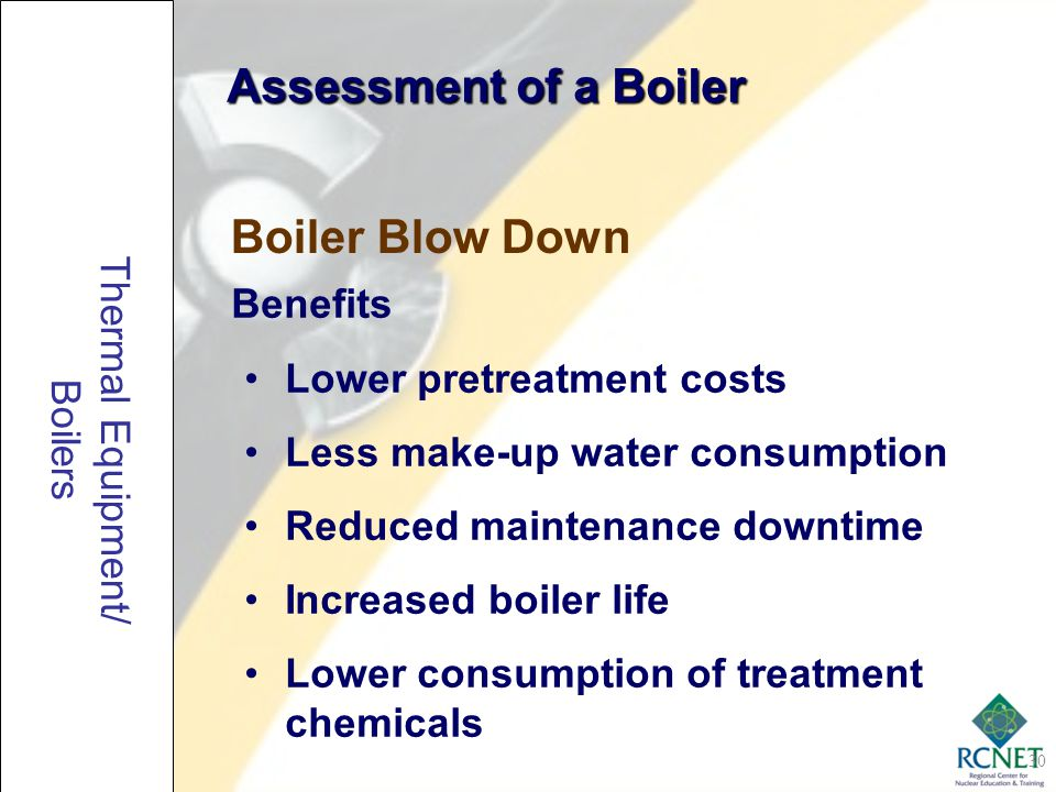 Assessment of a Boiler Boiler Blow Down Benefits
