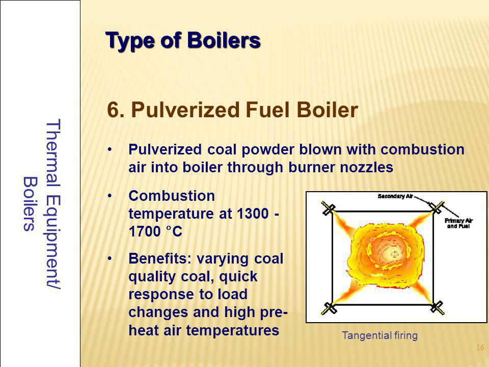 6. Pulverized Fuel Boiler