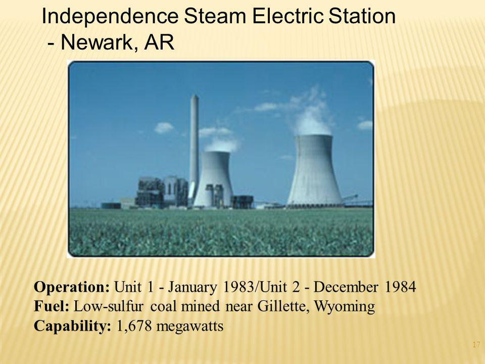 Independence Steam Electric Station - Newark, AR