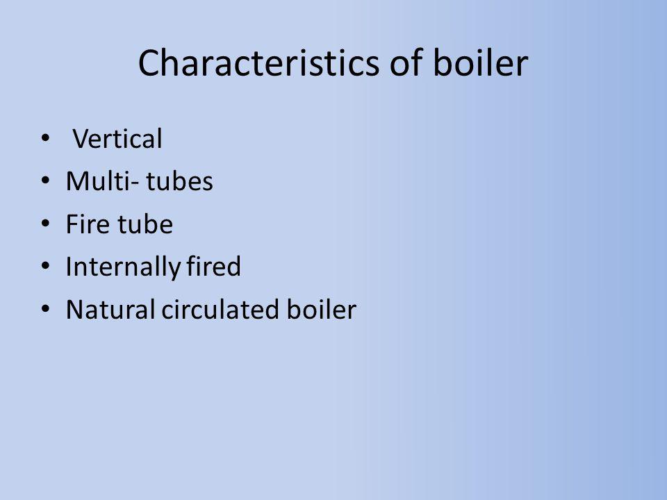 Characteristics of boiler