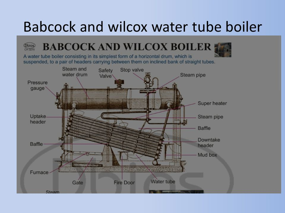 Babcock and wilcox water tube boiler
