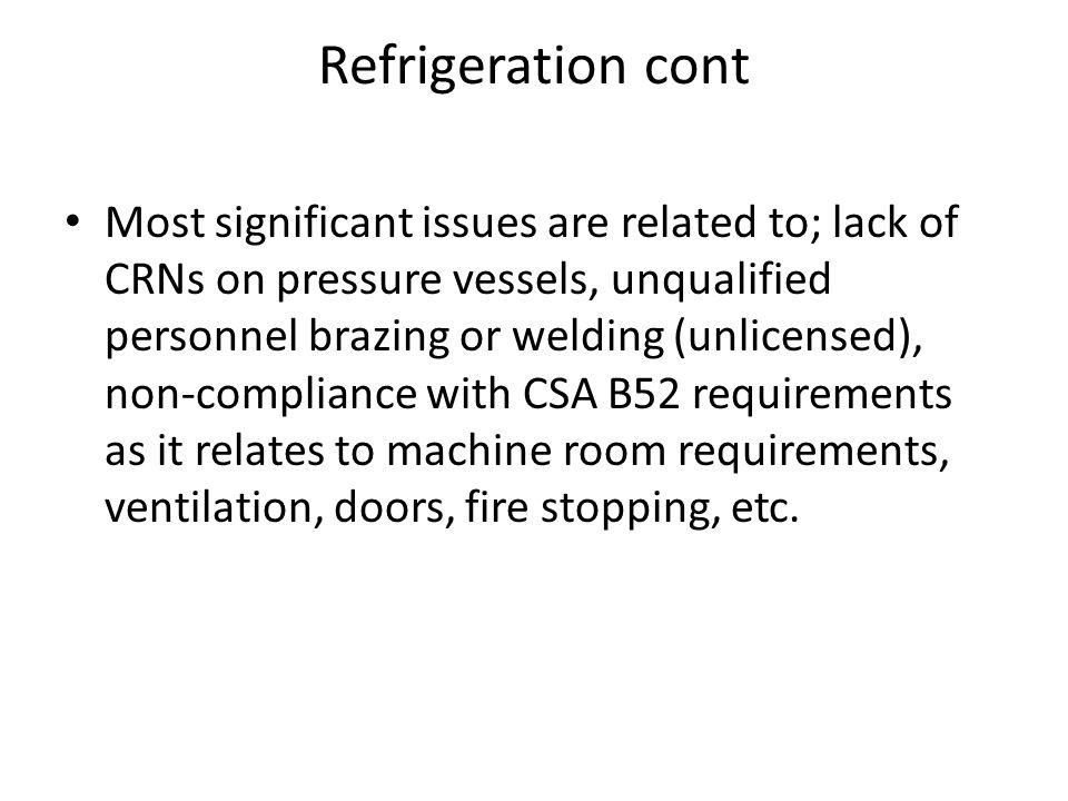 Refrigeration cont
