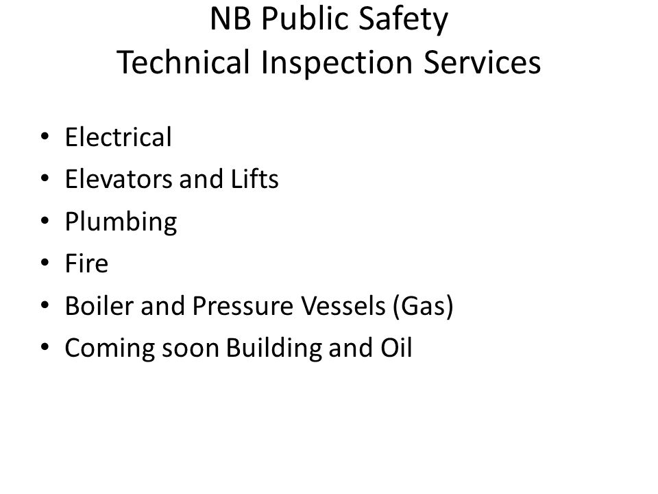 NB Public Safety Technical Inspection Services