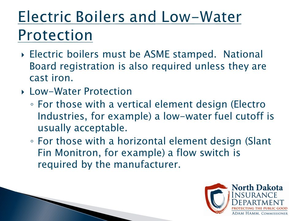 Electric Boilers and Low-Water Protection