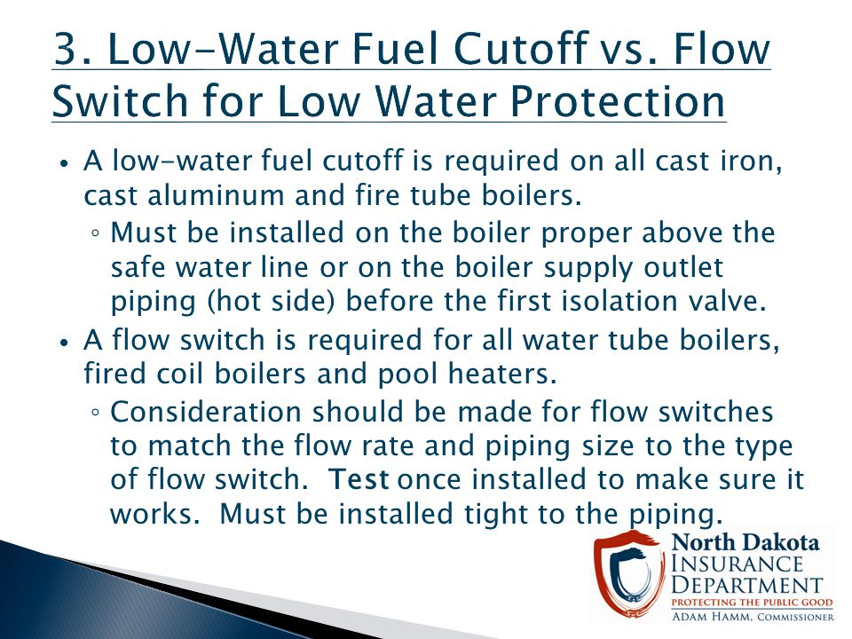 3. Low-Water Fuel Cutoff vs. Flow Switch for Low Water Protection