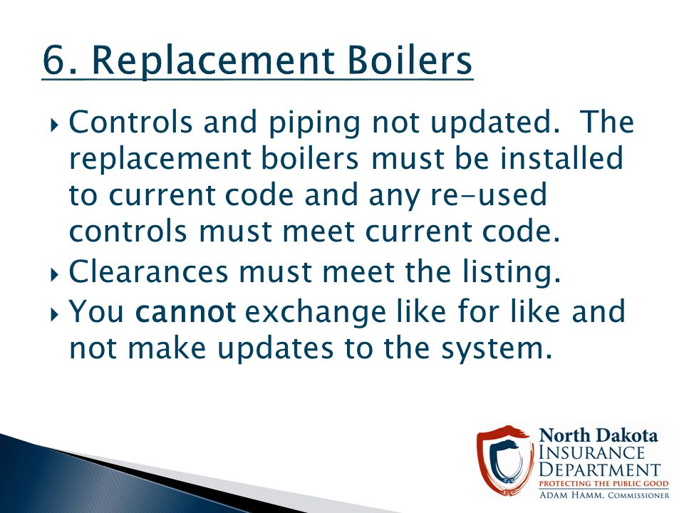6. Replacement Boilers
