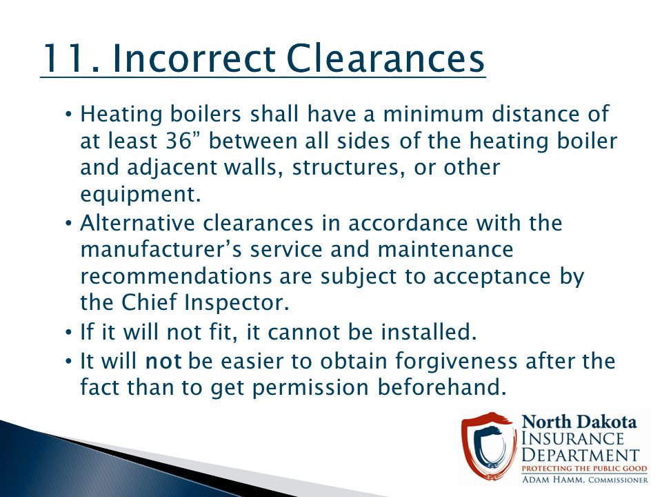11. Incorrect Clearances