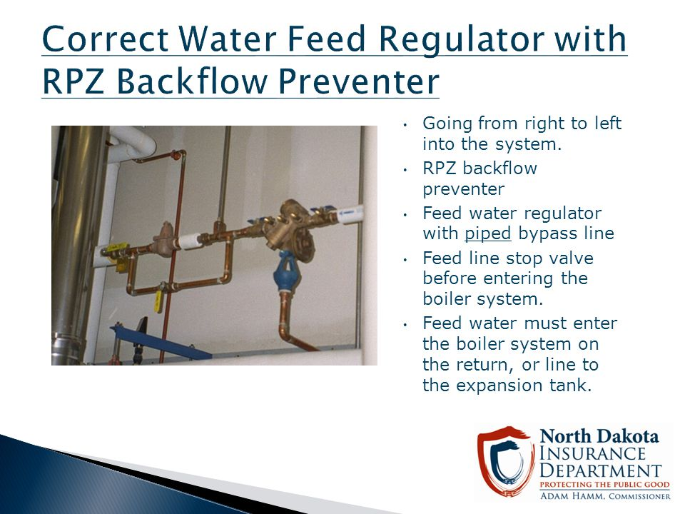 Correct Water Feed Regulator with RPZ Backflow Preventer