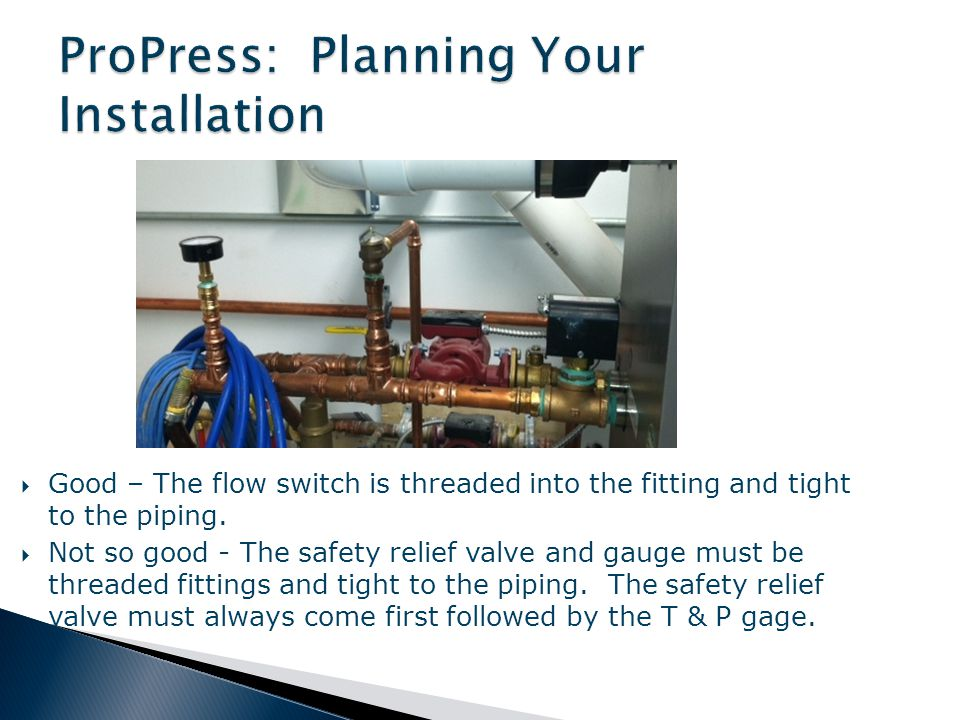 ProPress: Planning Your Installation