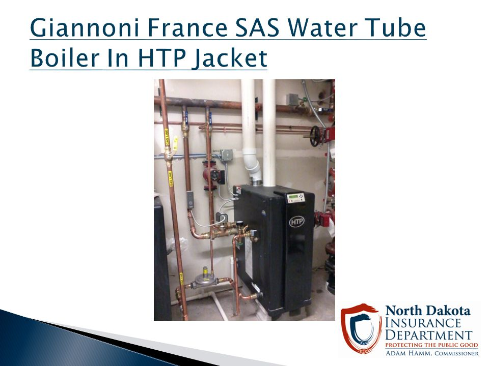 Giannoni France SAS Water Tube Boiler In HTP Jacket
