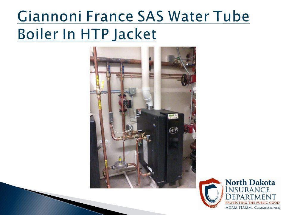 Giannoni France SAS Water Tube Boiler In HTP Jacket