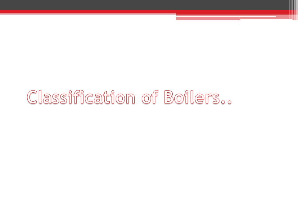 Classification of Boilers..