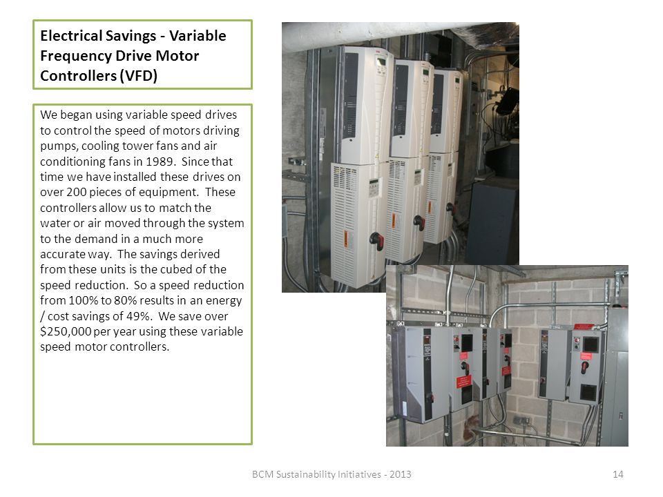 Electrical Savings - Variable Frequency Drive Motor Controllers (VFD)