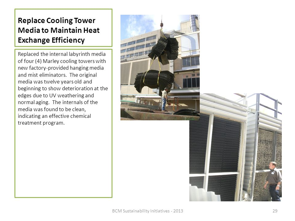 Replace Cooling Tower Media to Maintain Heat Exchange Efficiency