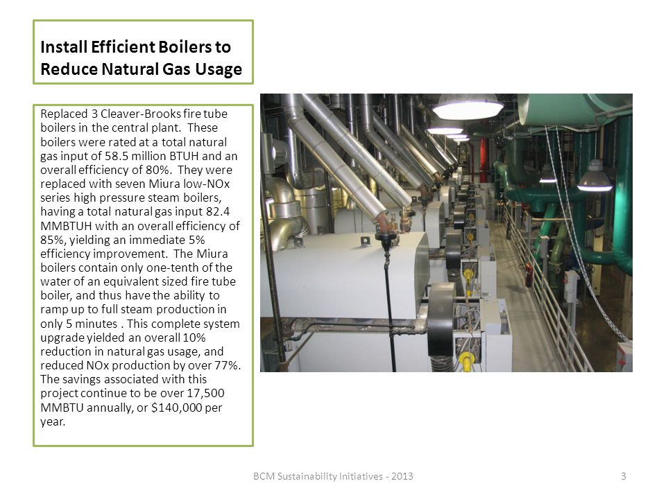 Install Efficient Boilers to Reduce Natural Gas Usage