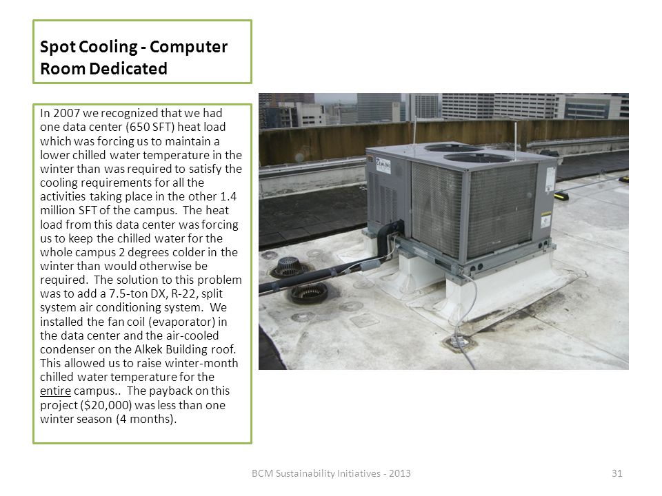 Spot Cooling - Computer Room Dedicated