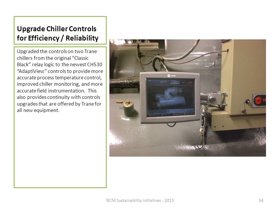 Upgrade Chiller Controls for Efficiency / Reliability