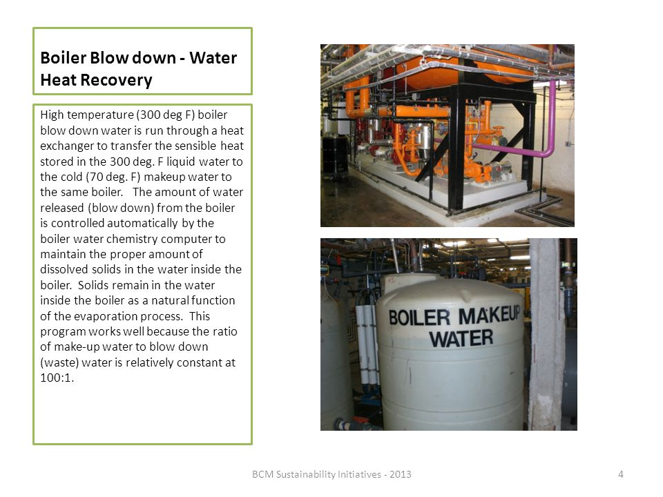 Boiler Blow down - Water Heat Recovery