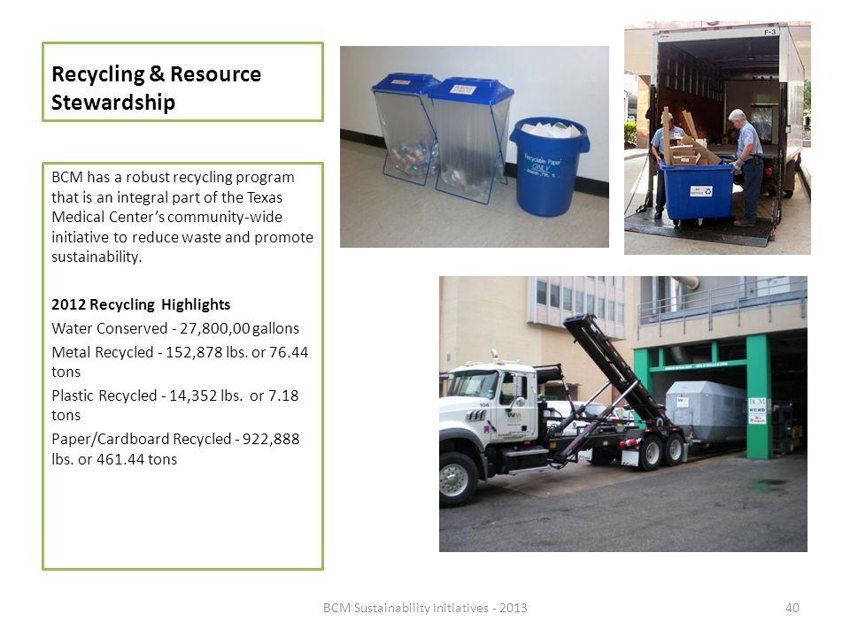 Recycling & Resource Stewardship