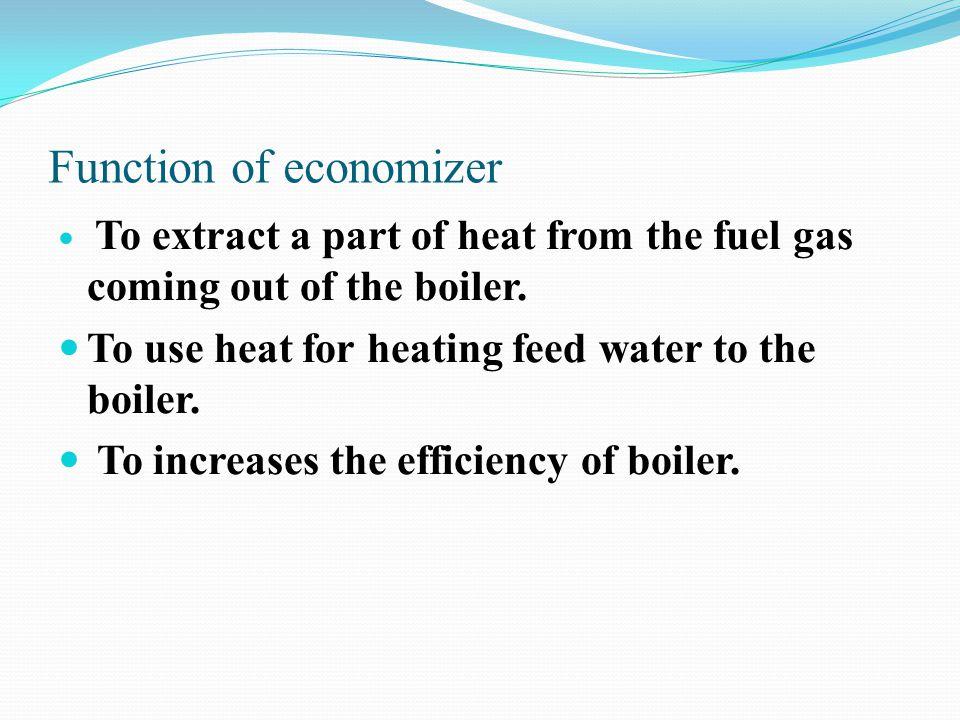 Function of economizer