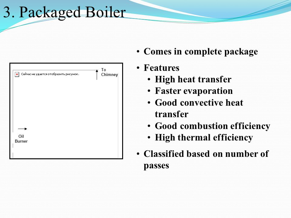 3. Packaged Boiler Comes in complete package Features